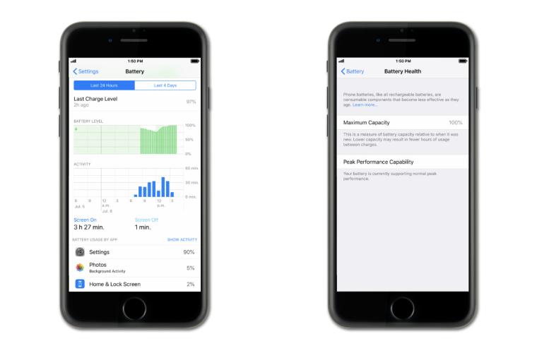 iOS 12 Battery health