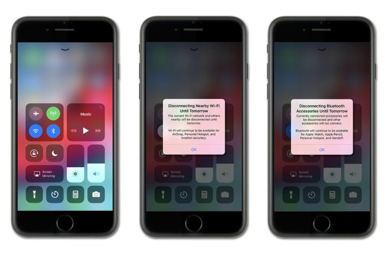 iOS 12 Bluetooth Wifi